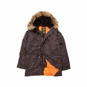 [ALPHA INDUSTRIES] N-3B Slim fit PARKA_딥브라운